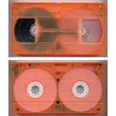 E-60 VHS BASF Leercassette VT16CrPG Chromium Dioxide Transparent Orange